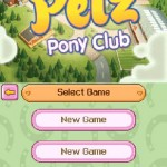 Petz pony club nintendo DS game